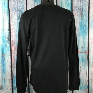 Hurley Shirts - Hurley Men's Medium Black Graphic Tee Long Sleeve